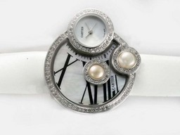 Falso Fancy Cartier Classic Diamond Bezel con quadrante bianco Orologi AAA [ V9K5 ]
