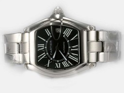 Falso Perfetto Cartier Roadster Luminor Automatic con quadrante nero Orologi AAA [ C3S1 ]